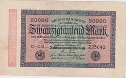 ALLEMAGNE 1923 REICHSBANKNOTE 20000 MARK - 20000 Mark