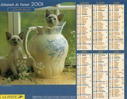 ALMANACH DU FACTEUR 2001 EDITION  CARTIER BRESSON CHATS CHIEN - Calendars
