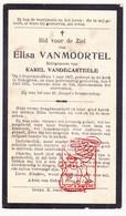 DP Elisa VanMoortel ° Bekegem Ichtegem 1867 † 1933 X Karel VandeCasteele - Devotion Images