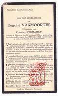 DP Eugenie VanMoortel ° Bekegem 1873 † Eernegem 1935 X Francies Vermault / Ichtegem - Devotion Images