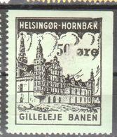 Denmark Local Railway Parcel Post  Helsingor .50 Oere MNH 1.Rare..Railways/Trains /Eisebahnmarken . - Trains