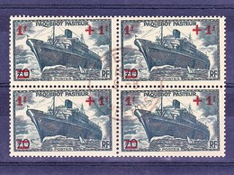 France Bloc YT 502 Paquebot Pasteur Oblit Deuil 09/08/41 - France