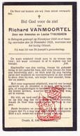 DP Richard VanMoortel / Tyberghein ° Bekegem Ichtegem 1880 † 1935 - Devotion Images