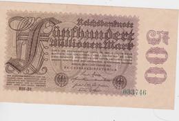 ALLEMAGNE 1923 REICHSBANKNOTE 500 MILLIONEN MARK - [ 3] 1918-1933: Weimarrepubliek