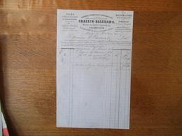St SAUVEUR LEZ ARRAS LE 27 MARS 1868 GRASSIN-BALEDANS MEMBRE DE L'INSTITUT POLYTECHNIQUE FOURNISSEUR DE LA VILLE DE PARI - Frankreich