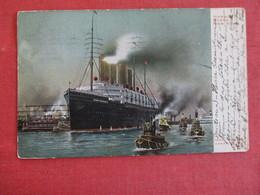 Kaiser Wilhelm 11 In New York Harbor - Ref 2911 - Paquebots
