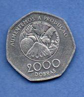 St Tomé Et Principe   --  2000 Dobras 1997--  Km # 91  -  état TTB+ - Sao Tome Et Principe