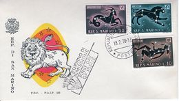 SAN MARINO - 1970 Sign Of The Zodiac   FDC4670 - FDC