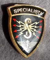 DISTINTIVO  A Spilla - Specialista Trasmissioni - Esercito Italiano Incarichi - Italian Army Badge - Radio Specialist - Army