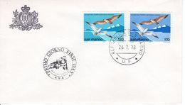 SAN MARINO - 1978 The 30th International Philatelic Exhibition, San Marino - Riccionec   FDC4671 - FDC
