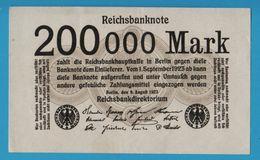 DEUTSCHES REICH 200.000 Mark 09.08.1923 P# 100  Without Printer's Block - [ 3] 1918-1933 : République De Weimar