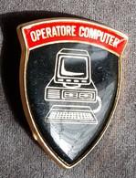 DISTINTIVO  A Spilla Specialista - Operatore Computer - Esercito Italiano Incarichi - Italian Army Badge - PC Operator - Army