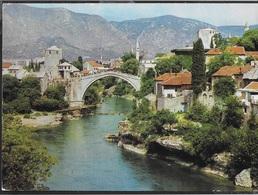 BOSNIA HERZEGOVINA - MOSTAR - EMISSIONE OLIMPIADE 1984 - IL PONTE - VIAGGIATA 1992 FRANCOBOLLO ASPORTATO - Bosnia Erzegovina
