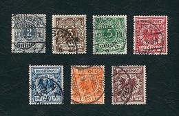 GERMANIA 1889-1900 - Cifra In Un Ovale E Aquila Imperiale In Un Cerchio - 7 Valori  - Michel DR 45-50/52 - Germania