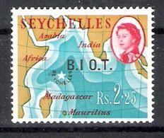 British Indian Ocean Territory 1968 Definitives 2r25 No Stop Over 'I'  MNH CV £75.00 - British Indian Ocean Territory (BIOT)