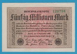 DEUTSCHES REICH 50 Millionen Mark01.09.1923Serial# GD-40  129796 P# 109f - [ 3] 1918-1933: Weimarrepubliek