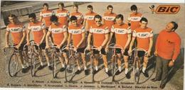 Carte Postale - Bic - équipe Bic Années 70 - Vintage - Cyclisme