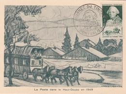 CARTE MAXIMUM  JOURNEE DU TIMBRE PONTARLIER 1949 - Cartes-Maximum