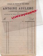 18- JOUET SUR L' AUBOIS- FACTURE ANTOINE AUCLERC- FABRIQUE PERLES -1892 - 1800 – 1899