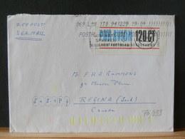 76/833    BRIEF NAAR CANADA ZEEPOST  UITKNIPSEL AEROGRAMME - Period 1980-... (Beatrix)