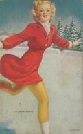 Nice Lady Girl Woman Skating - A Good Skate - Mutoscope Card - Pin-Ups