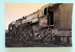 Photo GP Locomotive 241A  Dépot De La Villette Cliché Schnabel  Octobre1955 - Trains