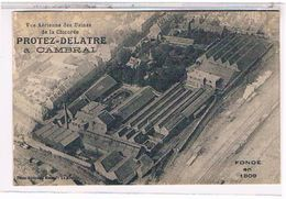 59  CAMBRAI  PROTEZ  DELATRE   VUE  AERIENNE  DES  USINES  DE  LA  CHICOREE   FONDE  EN  1809  TBE       1V13 - Cambrai