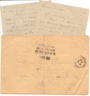 Lettre France Guerre War 1914/1918 Union Des Femmes De France 1918 Avec Lettre Du Blessé Breton : J.B. DELAHAYE - Marcophilie (Lettres)