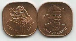 Swaziland  2 Cents  1974. UNC KM#8 - Swaziland