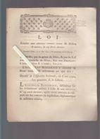 Histoire - Loi 1792 Relative Aux Attentats Contre Dillon, Berthois, Chaumont...  à Lille & Environs Le 29 Avril Dernier - Historische Dokumente