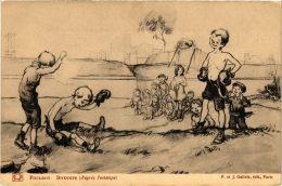 CPA PARIS Poulbot Boxeurs. D'apres L'estampe (673140) - France