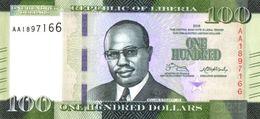 LIBERIA 100 DOLLARS 2016 P-35a UNC [LR315a] - Liberia