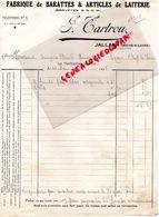 49- JALLAIS- FACTURE J. TARTROU- FABRIQUE BARATTES LAITERIE -LAIT-BEURRE- 1936 - Alimentaire