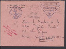 """FR - 1986 """"Secrétariat D'Etat Chargé De La Mer """"Enveloppe Des Affaires Maritimes De Port-Vendres Pour Canet En Roussillo - 1961-...."""