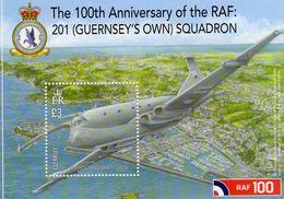 Guernsey  -   RAF 201 Squadron  -  Nimrod MR2P  -  1v Sheet Neuf/Mint - Avions