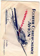 RARE GRANDE POCHETTE CORRESPONDANCE AVION- AVIATION -  AEROPORT - Transport