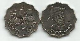Swaziland  5 Cents  1974. UNC KM#9 - Swaziland