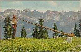 Suisse Joueur De Cor Des Alpes Alphornblaser - Switzerland