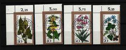 BUND Mi-Nr. 982 - 985 Eckrandsatz Waldblumen Gestempelt - Gebraucht