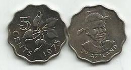Swaziland  5 Cents  1975. UNC KM#9 - Swaziland