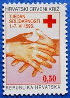 CROATIA CHARITY MNH STAMP 0,50 Kn.1995 RED CROSS SOLIDARITY - Croatie