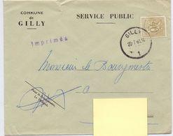 Enveloppe Omslag - Gemeente Commune De Gilly - Stempel Cachet 1961 - Entiers Postaux