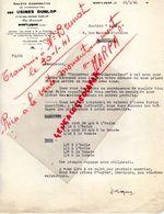 03-  MONTLUCON- LETTRE USINES DUNLOP - RUE PRINCIPALE- 1941 - Transport