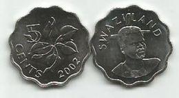 Swaziland  5 Cents 2002. UNC KM#48 - Swaziland
