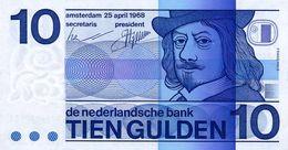 Netherlands 10 Gulden 1968 Pick 91b UNC - Netherlands