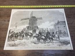 1870/1871 GRAVURE BATAILLE DE SAINT QUENTIN MOULIN DE TOUT VENT - Collections