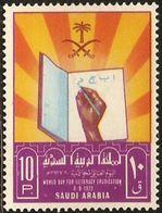 Saudi Arabia 1972 Struggle Against Analphabetism, International Day 1 Value MNH Book Writing Hand - Languages