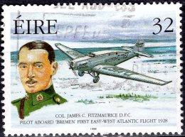IRELAND 1998 Pioneers Of Irish Aviation - 32p - Col. James Fitzmaurice And Junkers W.33 Bremen Over Labrador FU - 1949-... Republic Of Ireland