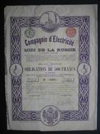 RUSSIE - Obligation BRUXELLES 1912 - COMPAGNIE D'ELECTRICITE DU MIDI DE LA RUSSIE - Russie