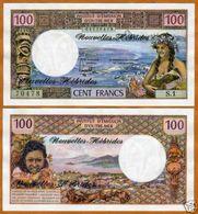 New Hebridas 100 Francs 1977 Pick 18 UNC - Other - Oceania